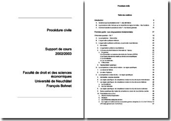 Cours de procédure civil suisse