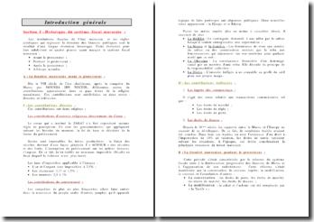 Introduction au droit fiscal marocain
