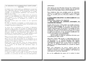 Les infractions à la constitution d'une société en droit marocain