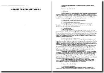 Droit des obligations suisse