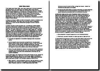 Introduction au droit pénal belge
