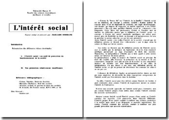 L'intérêt social (droit marocain)