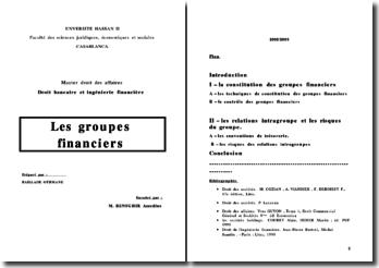 Les groupes financiers en droit marocain