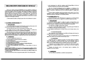 Organisation judiciaire du sénégal