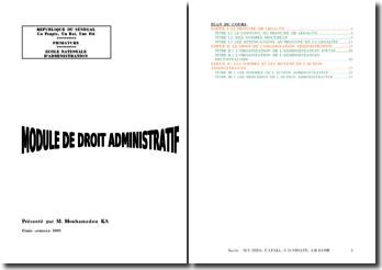Droit administratif sénégalais