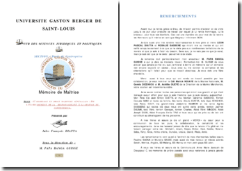L'abordage en droit maritime sénégalais