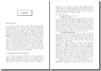 Méthodologie de l'exposé juridique