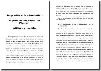 Tocqueville et la démocratie : un point de vue libéral sur l'égalité politique et sociale