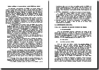 Idéologies politiques modernes : Audace politique et conservatisme social (XVIII ème siècle)