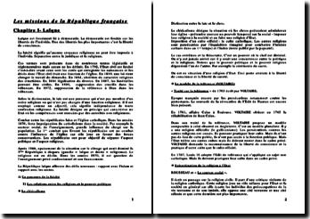 Les missions de la République française