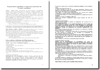 Organisation juridique et bureaucratisation de l'espace publique