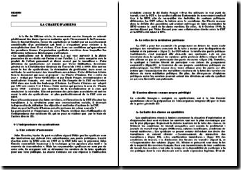 La Charte d'Amiens - autonomie et action directe des syndicats