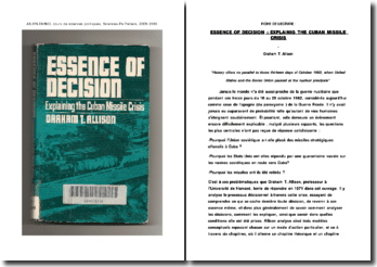 Fiche de lecture : 'Essence of decision: explaining the Cuban missile crisis'