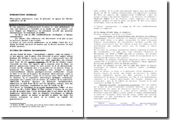 Cours de Relations Internationales - Les États et le rôle complémentaire des organisations internationales, fonctionnement et outils de régulation