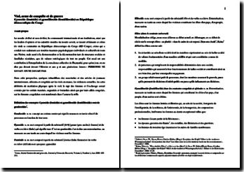 Viol, arme de conquête et de guerre: Gynocide (femicide) et gynoélitocide (femiélitocide) en RDC