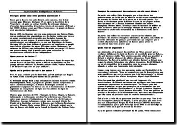 La proclamation d'indépendance du Kosovo