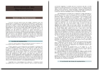 Anthropologie des Représentations - Images et représentations - La notion de représentation