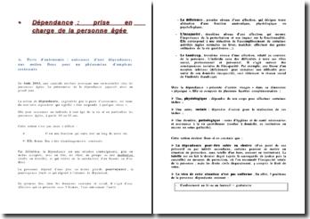 Dépendance : prise en charge de la personne âgée en France