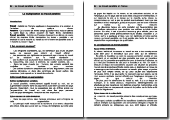 La multiplication du travail parallèle en France