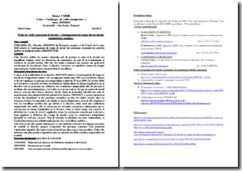 La Directive du Parlement Européen sur les travailleurs