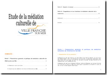 La politique de médiation culturelle de Villefranche sur mer