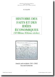 Histoire des faits et de la pensée économique