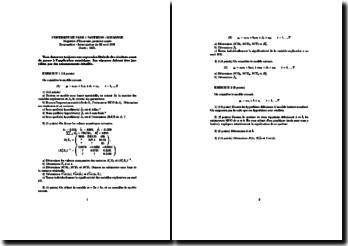 Annales d'économétrie pour licence science éco