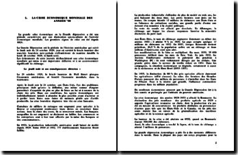 La crise économique des années 30 et actuelle, vue de Roumanie