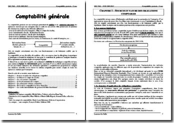 Cours de comptabilité générale pour des étudiants en master 1 de droit des affaires