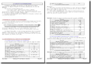 La capacité d'autofinancement - Cours terminale STT comptabilité et gestion