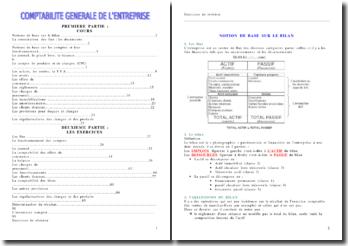 Comptabilité générale - Cours + Exercices