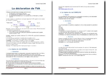 La déclaration de TVA