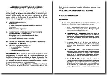 La profession comptable au Maghreb