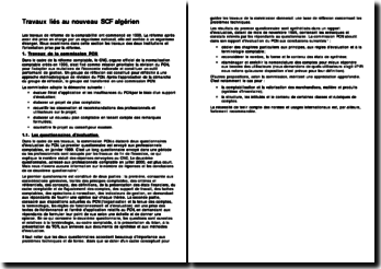 Travaux liés au nouveau SCF algérien