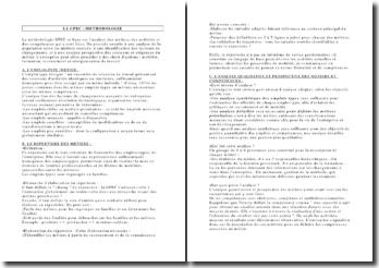 La gestion prévisionnelle des emplois et compétences : méthodologie