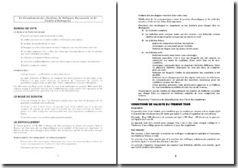 Le déroulement des élections de Délégués Personnels et de Comité d'Entreprise