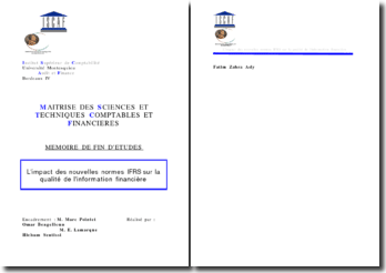 Mémoire impact IFRS