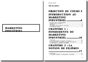 Le marketing industriel - filière et certification