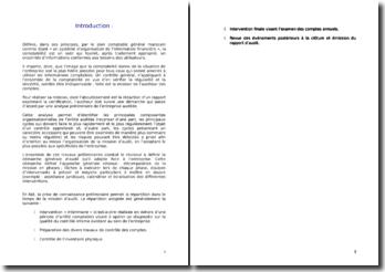 Le contrôle des comptes selon le référentiel comptable marocain