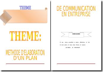 Méthode de l'élaboration d'un plan de communication dans l'entreprise