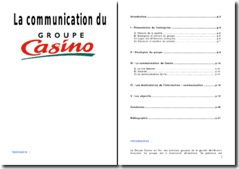 La communication du groupe Casino