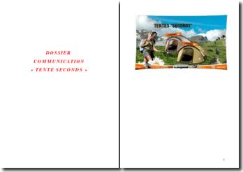 Exposé sur la tente de Quechua 'tente seconds'