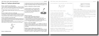 Optique - Bases de l'optique géométrique