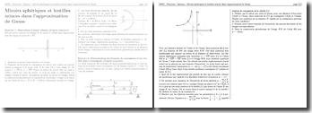 Optique - Miroirs sphériques et lentilles minces dans l'approximation de Gauss