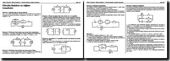Electrocinétique - Circuits linéaires en régime transitoire