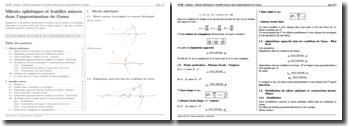 Optique : Miroirs et lentilles minces sphériques dans l'approximation de Gauss