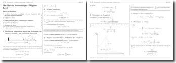 Mécanique : Oscillateur harmonique - Régime sinusoïdal forcé
