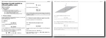 Mécanique : Dynamique du point matériel en référentiel galiléen (suite)