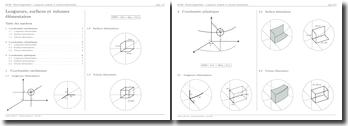 Électromagnétisme : Longueurs, surfaces et volumes élémentaires