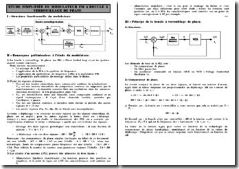 Etude simplifiée du modulateur FM à boucle à verouillage de phase